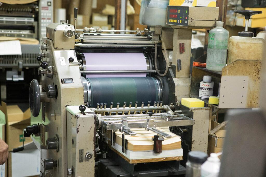 封筒印刷専用オフセット印刷機