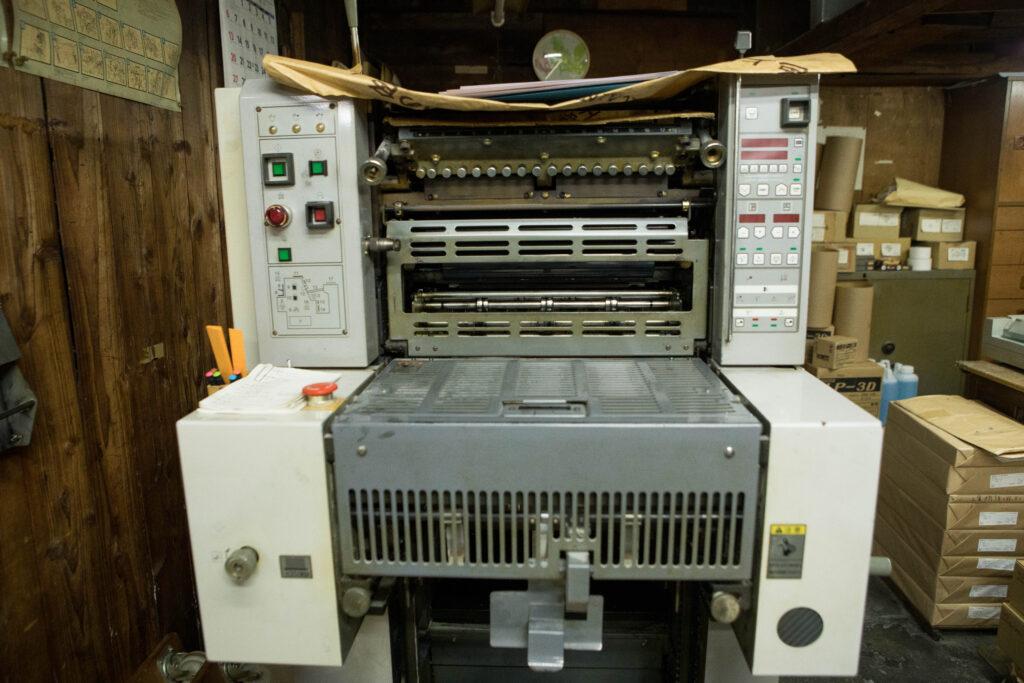 オフセット両面印刷機
